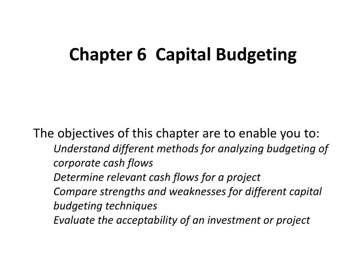 capital budgeing case study essay This 2,438 word capital budgeting case study example includes a title, topic, introduction, thesis statement, body, and conclusion writing an essay on capital budgeting case study follow these below tips which will help you in completing your paper.