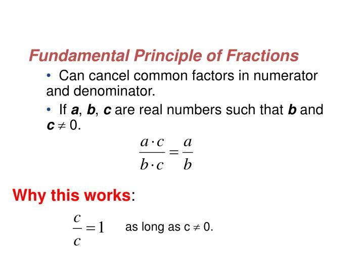 Fundamental Principle of Fractions