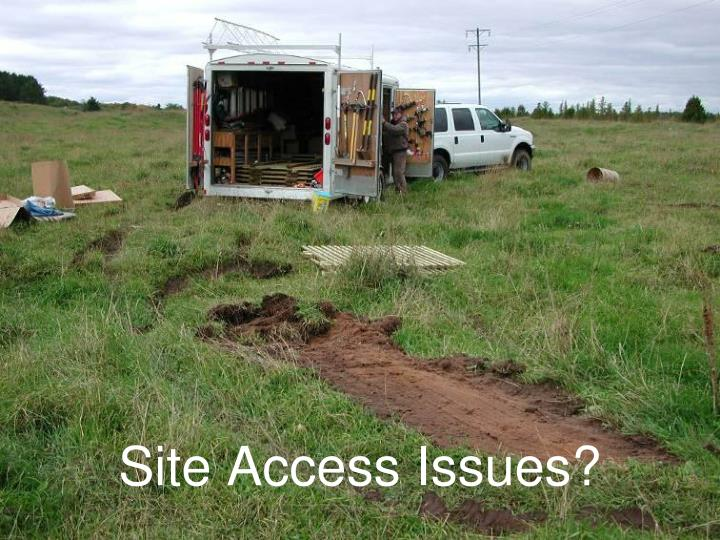 Site Access Issues?