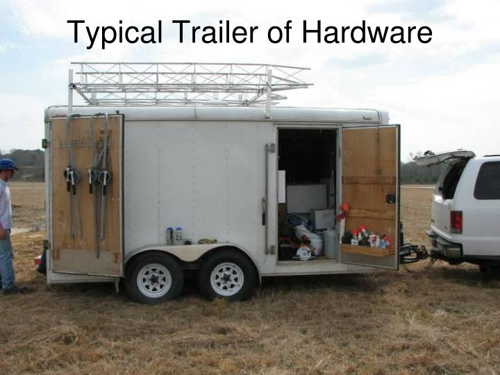 Typical Trailer of Hardware