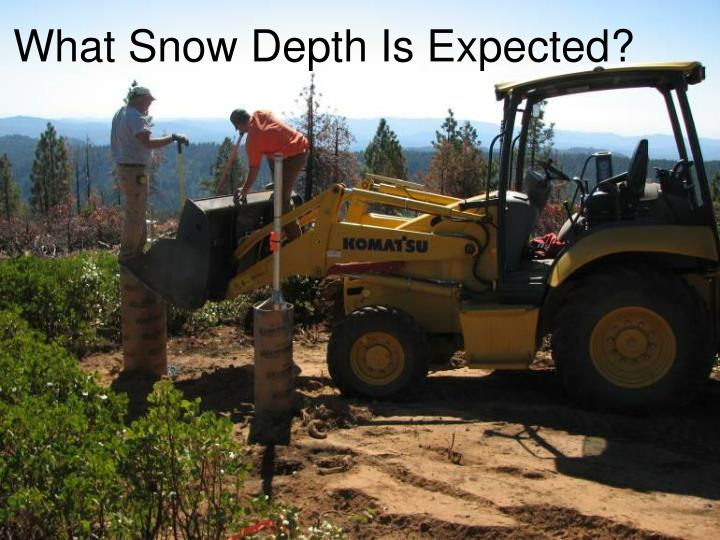 What Snow Depth Is Expected?
