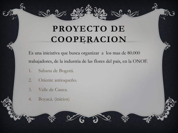 PROYECTO DE COOPERACION