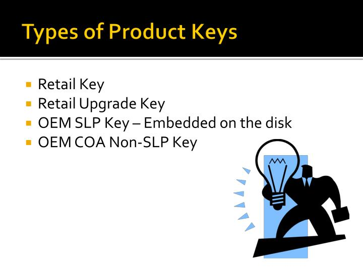 Types of Product Keys