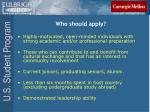 who should apply