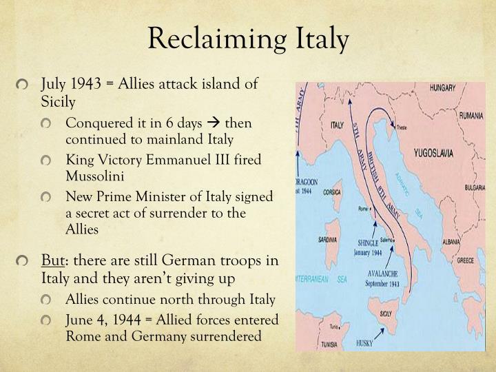 Reclaiming Italy
