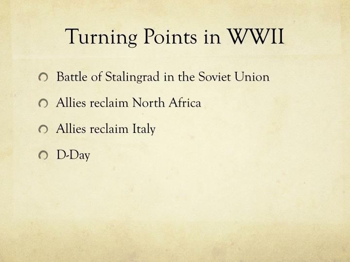 Turning Points in WWII