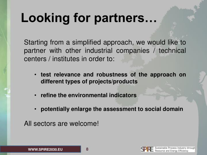 Looking for partners…