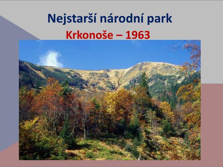 Nejstarší národní park