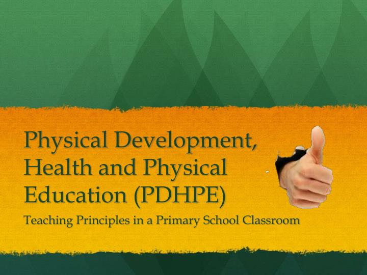 physical development health and physical education pdhpe n.