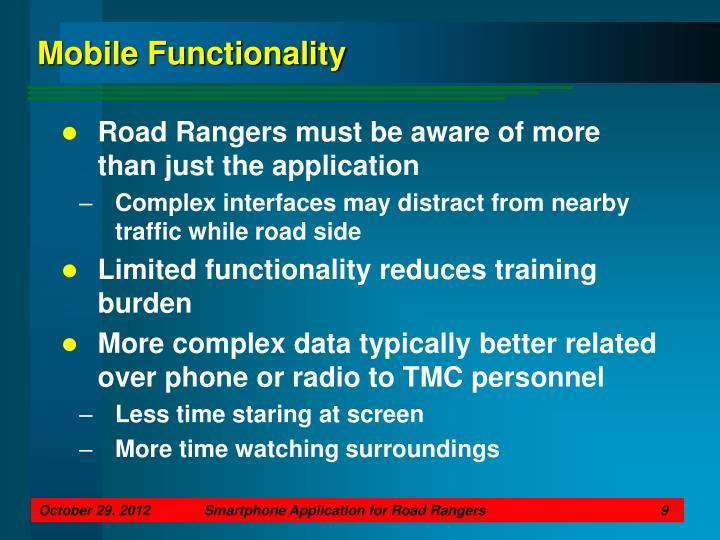 Mobile Functionality