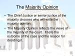 the majority opinion