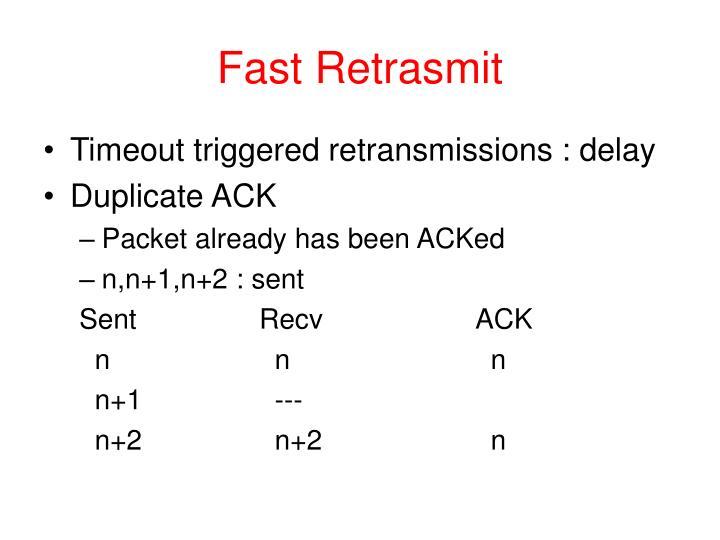 Fast Retrasmit