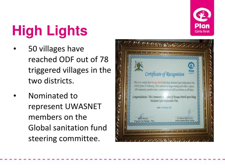 50 villages have reached ODF out of 78 triggered villages in the two districts.