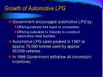 growth of automotive lpg