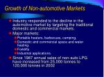 growth of non automotive markets