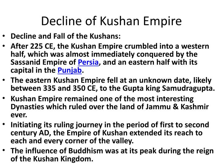 Decline of Kushan Empire