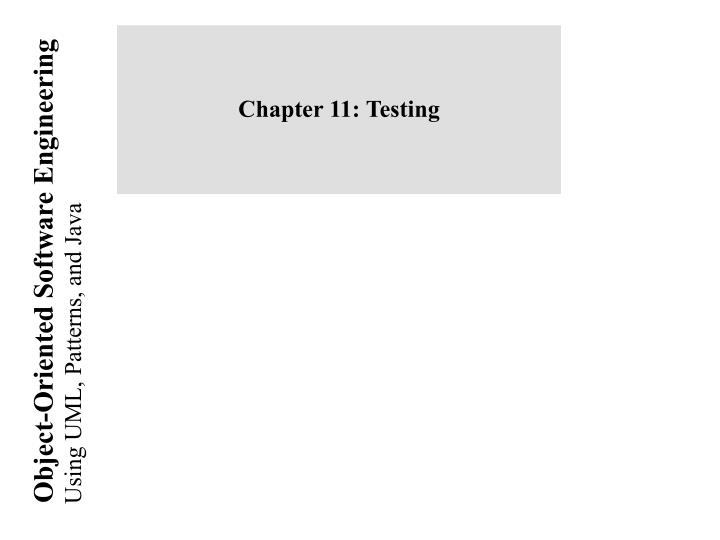 chapter 11 testing n.
