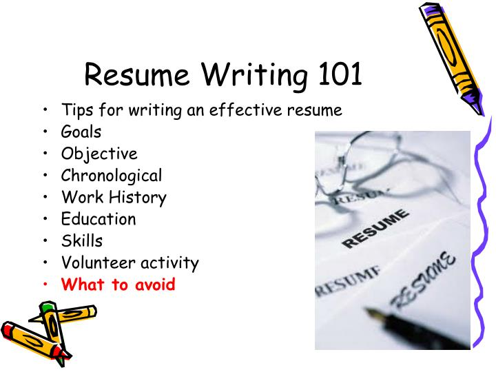 ppt - resume writing 101 powerpoint presentation