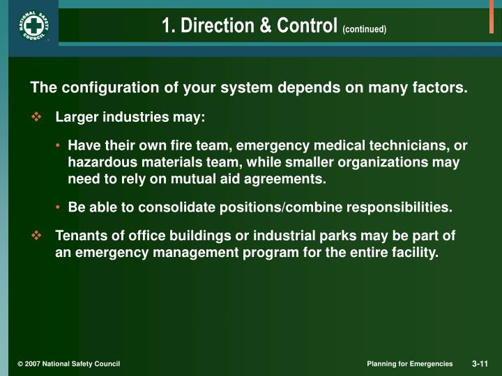 1. Direction & Control