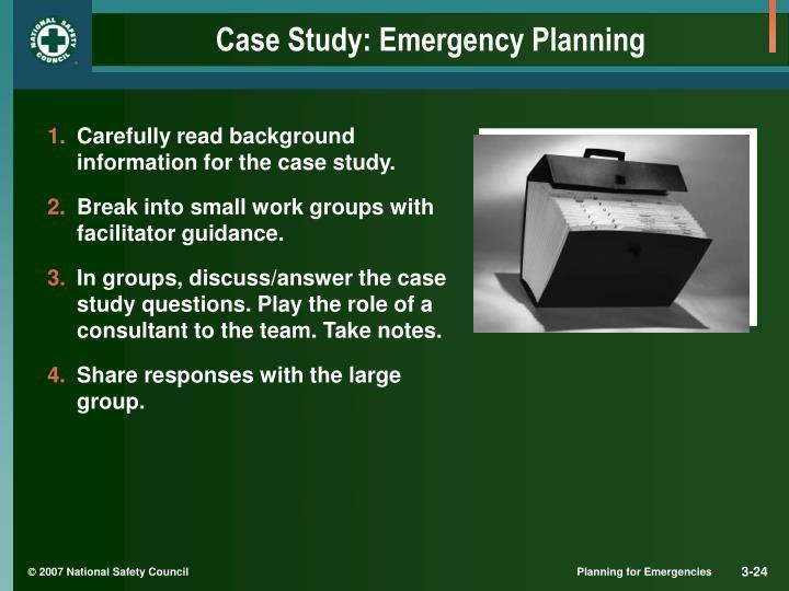 Case Study: Emergency Planning