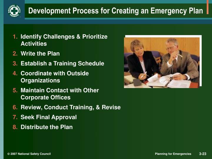 Development Process for Creating an Emergency Plan