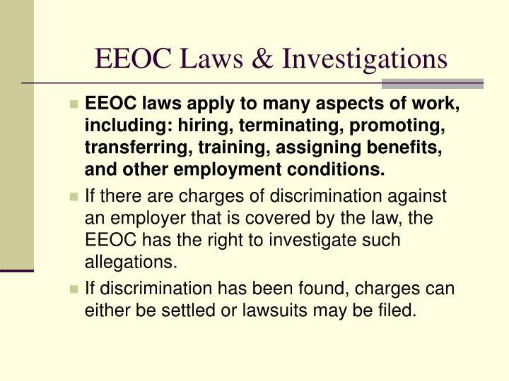 EEOC Laws & Investigations