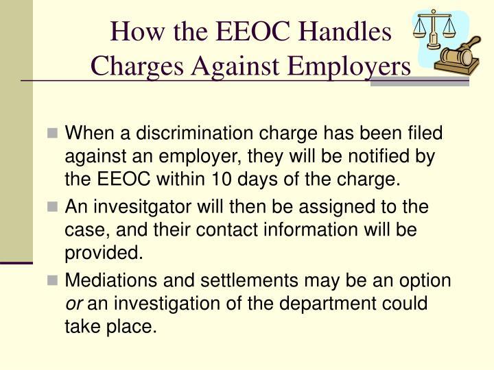 How the EEOC Handles
