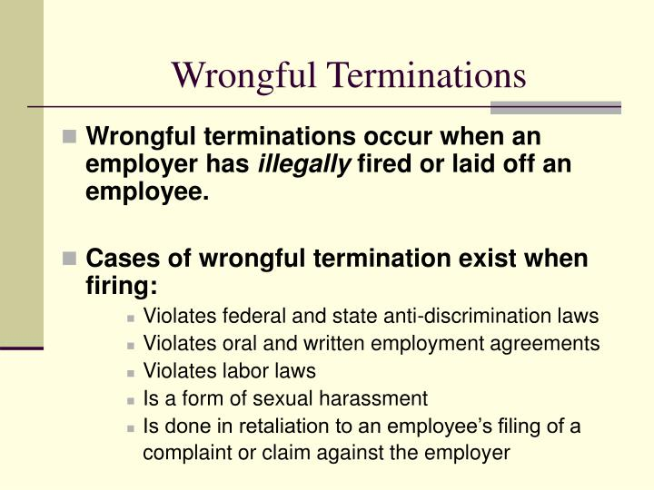 Wrongful Terminations