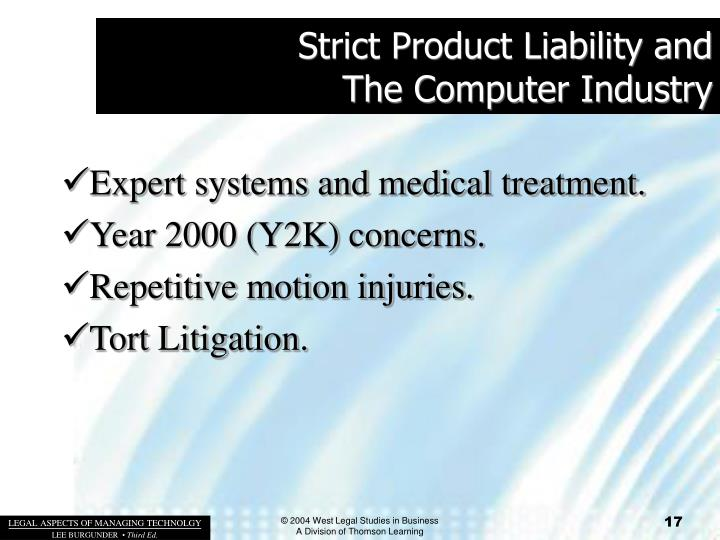 Strict Product Liability and