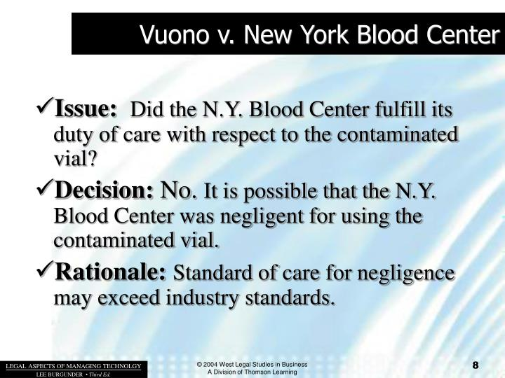 Vuono v. New York Blood Center