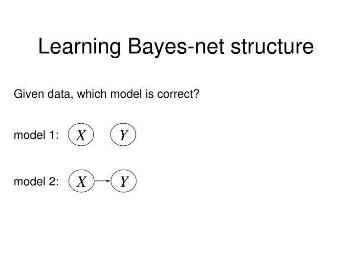 Learning Bayes-net structure