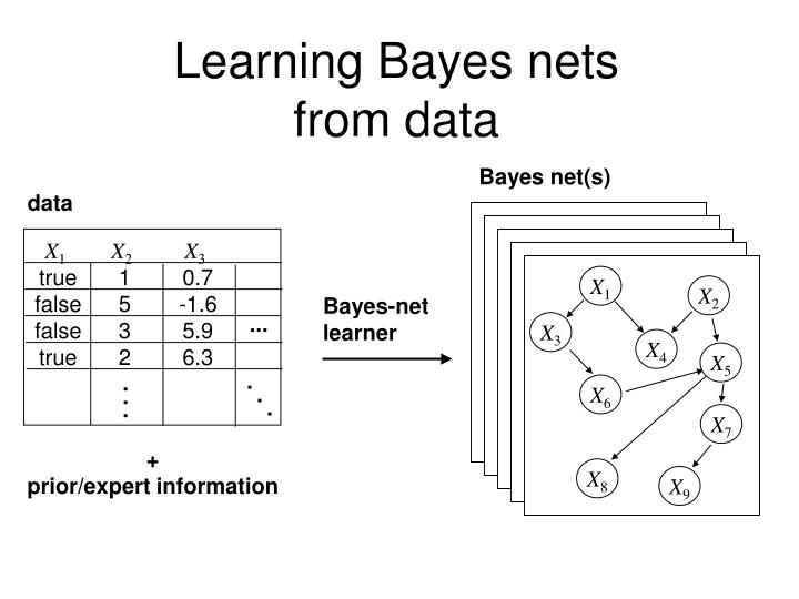 Learning bayes nets from data