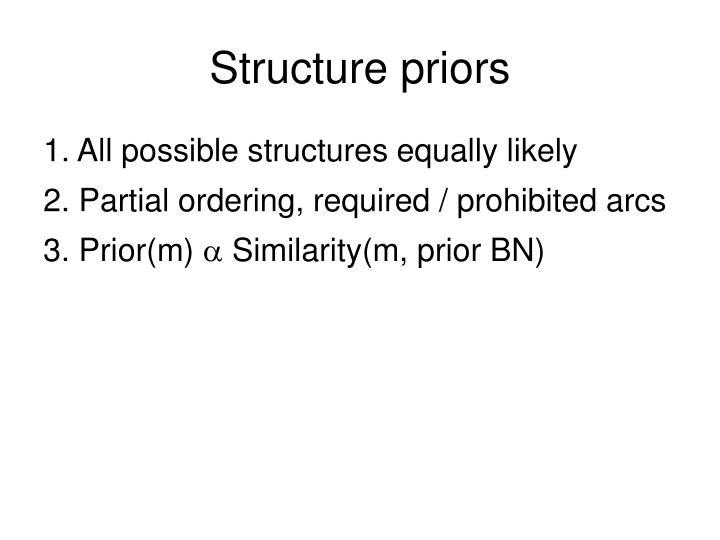 Structure priors