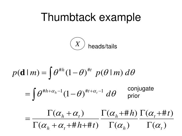 Thumbtack example