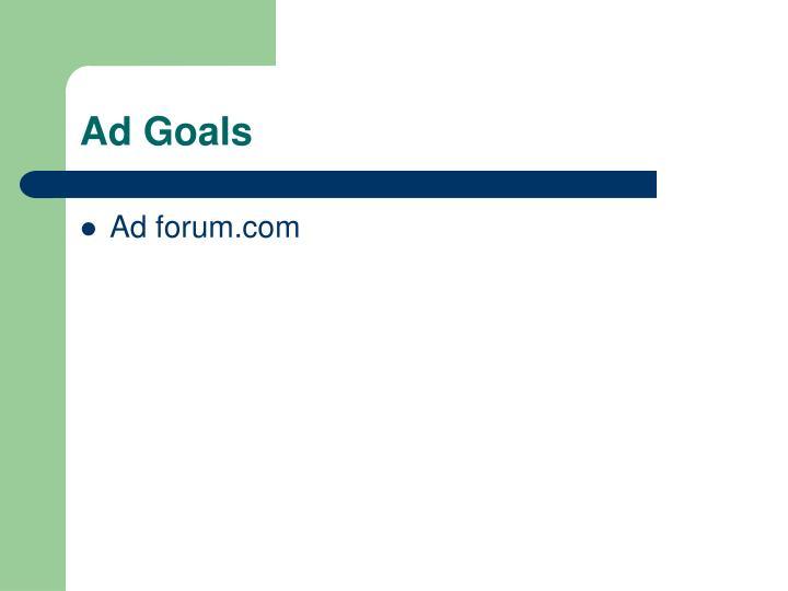 Ad Goals