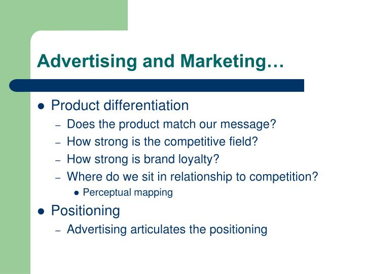 Advertising and Marketing…