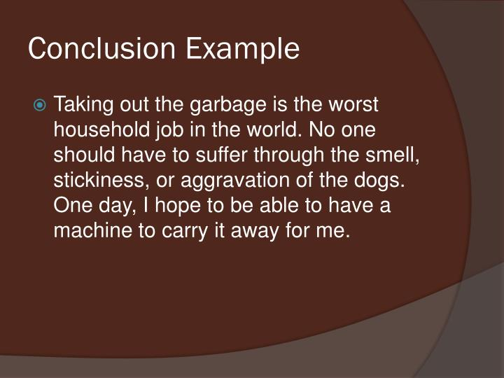 Conclusion Example