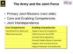 the army and the joint force