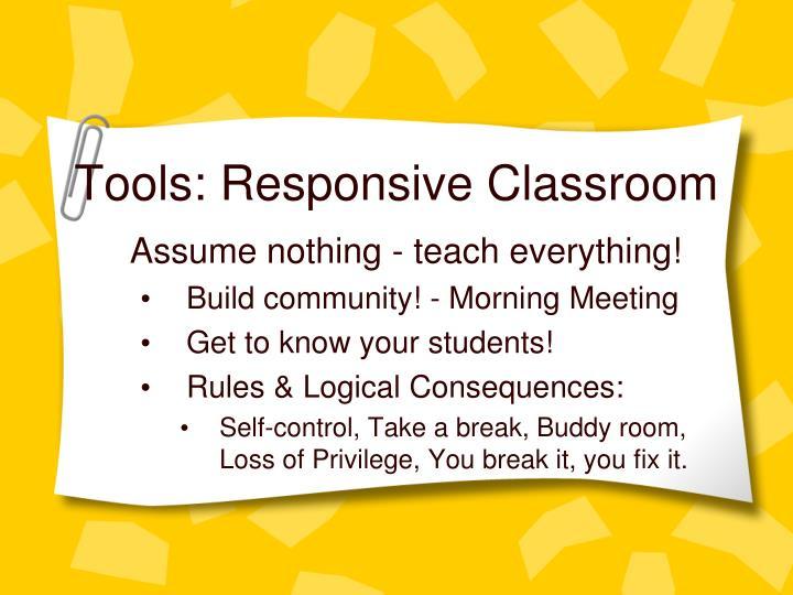 Tools: Responsive Classroom