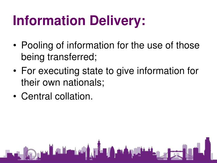 Information Delivery: