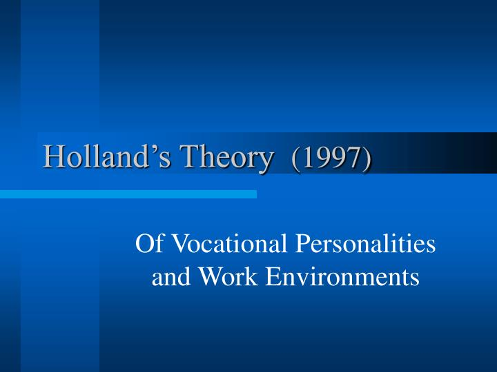 holland s theory 1997 n.