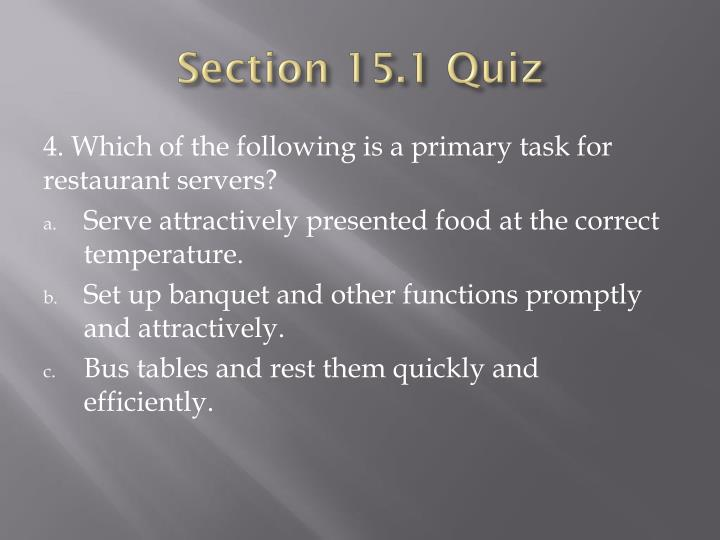 Section 15.1 Quiz