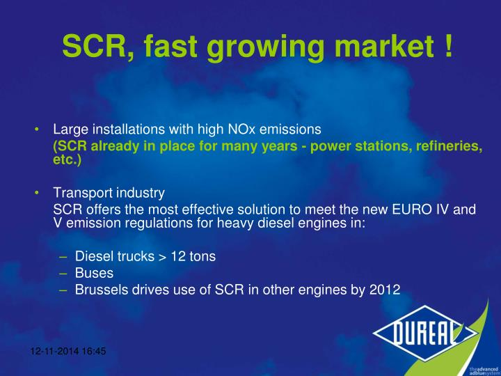 Large installations with high NOx emissions