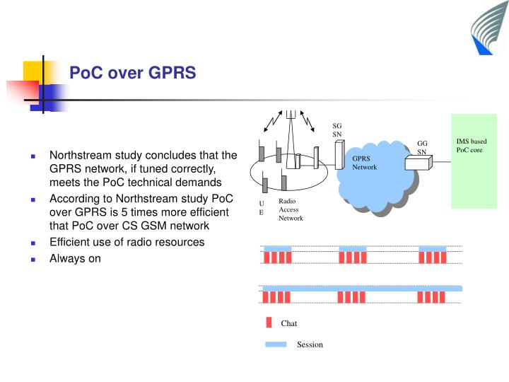 Northstream study concludes that the GPRS network, if tuned correctly, meets the PoC technical demands