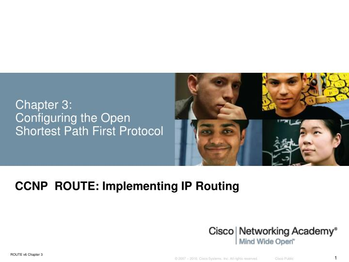 chapter 3 configuring the open shortest path first protocol n.