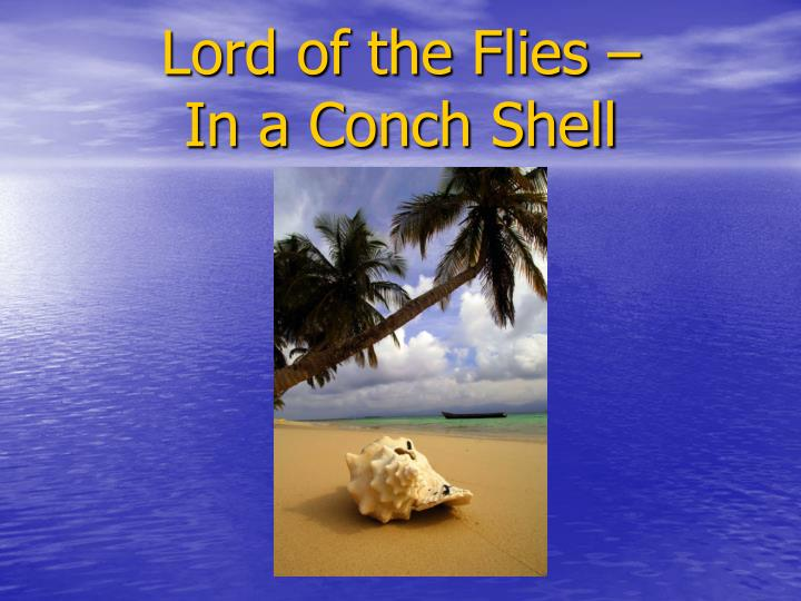 lord of the flies in a conch shell n.