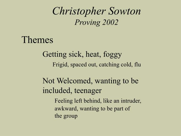 Christopher Sowton