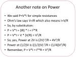 another note on power