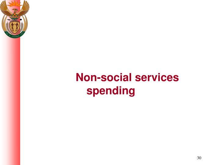 Non-social services spending