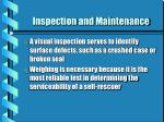 inspection and maintenance3
